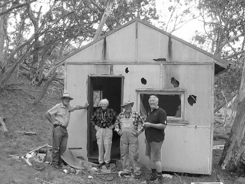 CSIRO Hut with Rabbit Researchers